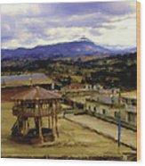 Guatemalan Roof Top Four Wood Print