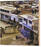 Guatemalan Roof Top Scene Wood Print