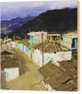Guatemalan Roof Top Wood Print