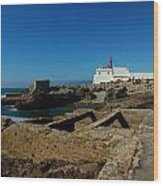 Guia Lighthouse Wood Print