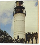 Guiding Light Of Key West Wood Print