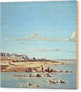 Guigou's Washerwomen On The Banks Of The Durance Wood Print