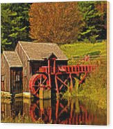 Guildhall Grist Mill Wood Print