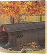 Guilford Vermont Covered Bridge Wood Print