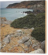 Guincho Cliffs Wood Print