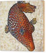 Guinea Fowl Puffer Fish Wood Print