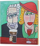 Guinness Man With The Woman Of His Dreams Wood Print