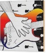 Guitar 1 Wood Print