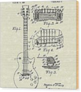 Guitar 1955 Patent Art Wood Print