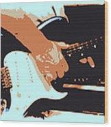 Guitar And Man Wood Print