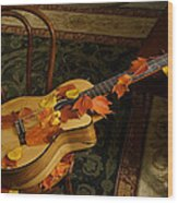 Guitar Autumn 1 Wood Print