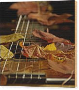 Guitar Autumn 2 Wood Print