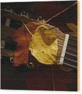 Guitar Autumn 4 Wood Print