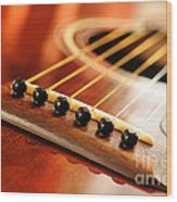 Guitar Bridge Wood Print