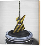 Guitar Desplay V3 Wood Print by Frederico Borges