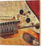 Guitar Fender Wood Print