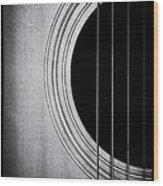 Guitar Film Noir Wood Print