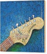Guitar Head Wood Print