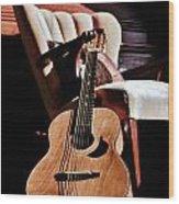 Guitar In Sunlight Wood Print