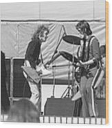 Guitar Interplay At The Day On The Green 6-6-76 Wood Print