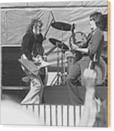 Guitar Jam At Day On The Green In Oakland 1976 Wood Print