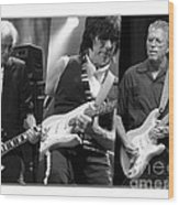 Guitar Legends Jimmy Page Jeff Beck And Eric Clapton Wood Print