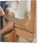 Guitar Maker Wood Print