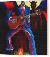 Guitar Man Upstairs Wood Print