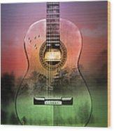 Guitar Nature  Wood Print