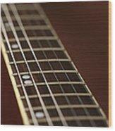 Guitar Neck Wood Print
