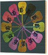 Guitar O Clock Wood Print