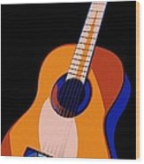 Guitar Of Colors Wood Print