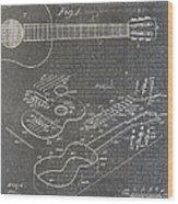 Guitar Patent Wood Print