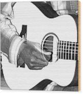 Guitar Player Wood Print by Aidan Moran