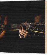 Guitar Player Wood Print