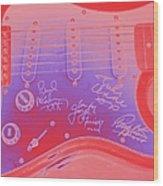 Guitar Signed  Wood Print
