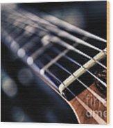 Guitar Strings Wood Print by Stelios Kleanthous