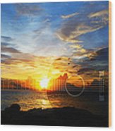 Guitar Sunset - Guitars By Sharon Cummings Wood Print