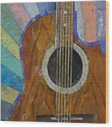Guitar Sunshine Wood Print by Michael Creese