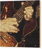 Guitar Tinted Copper Wood Print