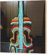 Guitar Vase Wood Print