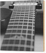 Guitar View Wood Print