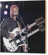 Guitarist Don Felder Wood Print