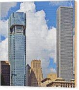Gulf Building Houston Texas Wood Print