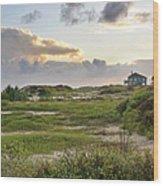 Gulf Coast Galveston Tx Wood Print