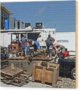 Gulf Coast Oyster Industry Wood Print