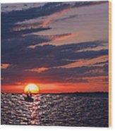 Gulf Coast Sunset Wood Print