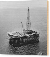 Gulf Of Mexico Oil Rig, 1950 Wood Print