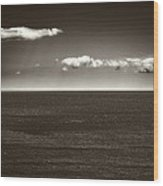 Gulf Of St Lawrence With Clouds Wood Print