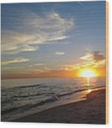 Gulf Shores Alabama Sunset2 Wood Print by LCS Art